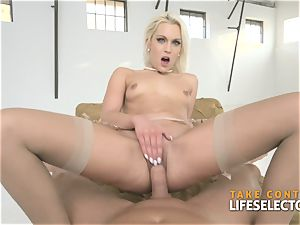 Cecilia Scott - platinum-blonde cougar enjoys anal