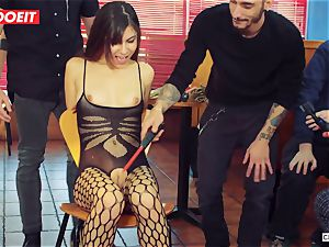 LETSDOEIT - super-hot nubile tormented and nailed At sadism & masochism party