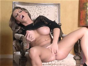 super-fucking-hot Jenna Presley frolicking with her saucy pink moist puss until she ejaculates