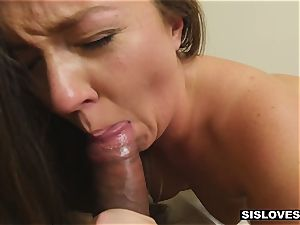 Stepsis is given curing cum up the culo and all over the face