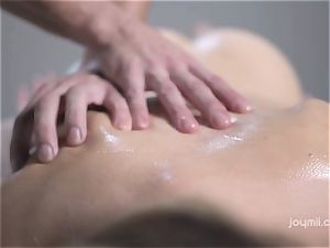 Deep softcore massage for the pale tender Alecia