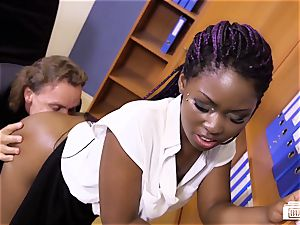 cabooses BUERO - German dark-hued assistant in office poke