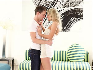 voluptuous sequence with a jaw-dropping blonde honey
