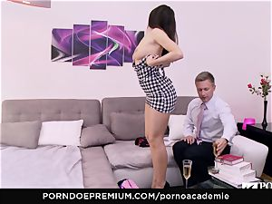 porn ACADEMIE Lana Rhoades likes pulverizing French manhood