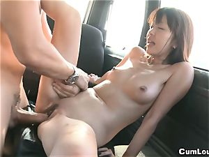 japanese adult movie star Marica Hase nailed on Wheels