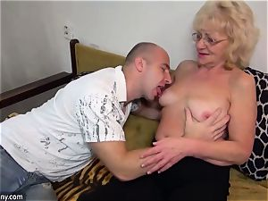 old grannie got stripped and boinked hardcore way