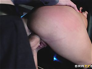 big-chested ultra-cutie has fuck-a-thon with a stranger guy, and her husband looks