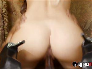 hottie babe rammed with IR yam-sized knob