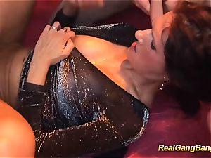 Rreal deepthroat group sex fuckfest