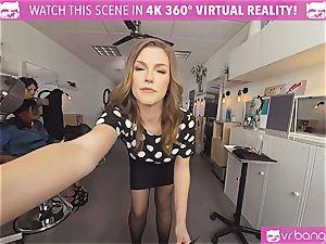 VRBangers.com Hairdresser Ella fucked rigid and facial cumshot