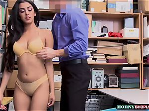 warm Latina Sophia Leone gets her cunt fucked by officers enormous weenie so rock hard