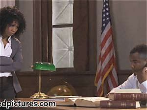 Misty Stone makes her last bang the hottest