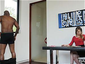 impatient little milky talent agent Jillian Janson hungers big black cock