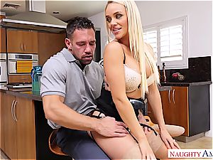Alexis Monroe gets torn up by the mechanic in some magnificent lingerie