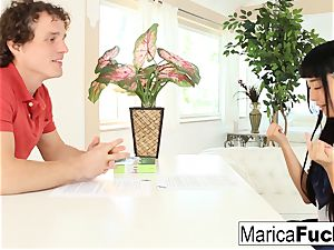 Marica gets an English lesson with a yam-sized penis twist