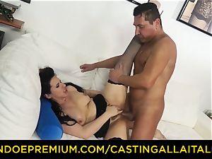 audition ALLA ITALIANA dark haired nympho rough assfuck intercourse