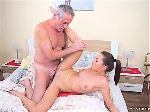 Katy Rose porked by a elder man