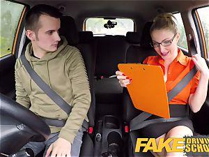 fake Driving school examination failure leads to warm fuck-a-thon