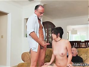 Tricky elderly tutor More 200 years of sausage for this mind-blowing brunette!