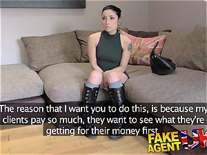 FakeAgentUK Agent gives petite web cam college girl cum shot