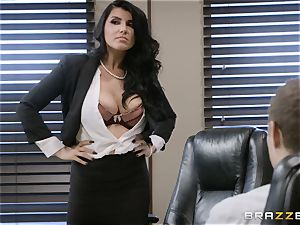 insane brown-haired Romi Rain pulverized in her tight cunt