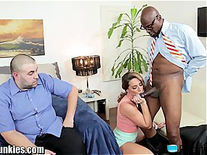 Savannah Fox nails big black cock in front of her hubby