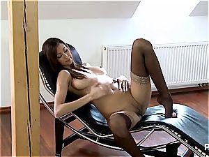 kitty Jane stretching her gams