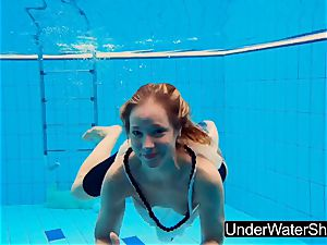 stellar and super-steamy teen Avenna in the pool