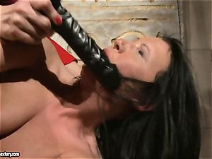 Katy Borman love forcing a scorching babe to gargle the fake penis