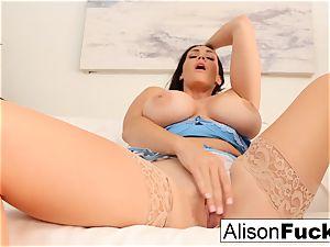 Alison Tyler kneads her fuckbox