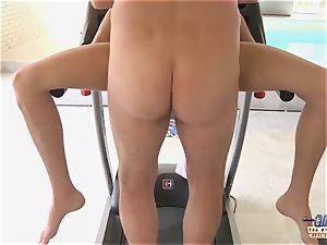aged youthfull porn stunner gets pummeled gives a deep throat closeup