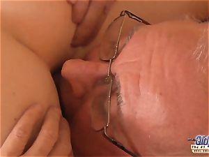 older youthfull porno granddad likes to shag youthfull gals poon