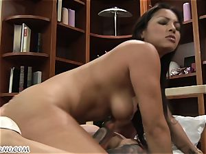 huge-titted mature latina riding a youthful boy's fuckpole