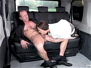 pummeled IN TRAFFIC - red-hot Czech petite gets humped in car