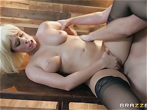 juices liking light-haired Athena Palomino