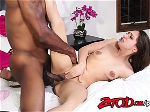 Sara Luvv destroyed by her stepbrother's humungous black meatpipe
