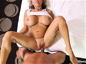 huge breasts cougar gets ass fucking plow and facial