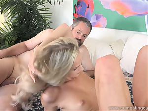 Emma Hix and hubby screw Her youthful man buddy