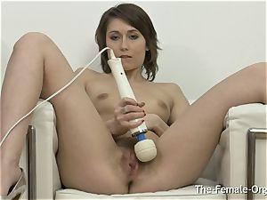 wooly vagina babe jerks to numerous pulsating ejaculation