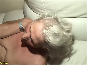 75 years old grandma first porno flick