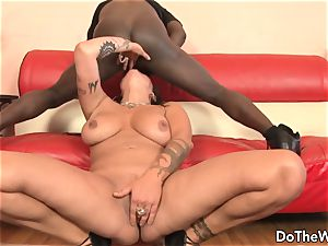 torrid cougar adult movie star takes yam-sized dark-hued man rod for hubby
