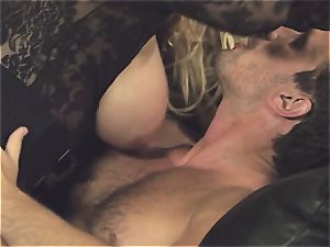 Bridgette B's hatch gets tucked with stud meat