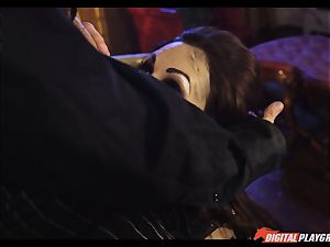 Tina kay has thick blast on her beautiful nice face from frankenstein