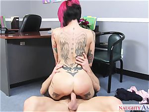 huge-boobed perv girl with ample cupcakes gets porked on the office desk