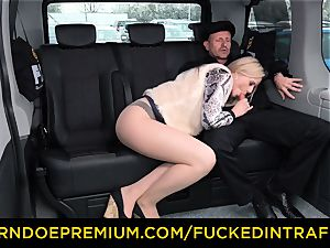 fucked IN TRAFFIC - blond princess drilled deep