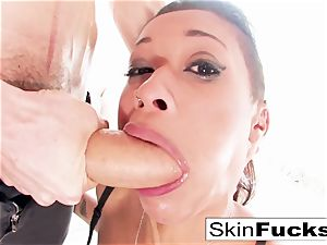 skin Diamond's unbelievable double penetration fuck