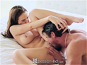 Passion-HD - Dillion Harper fingers her hairless twat