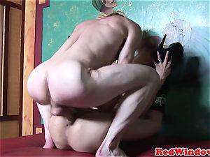 Alternative dutch call girl gets pussynailed