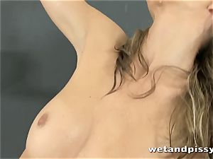 This blonde darling enjoys to squirt so much