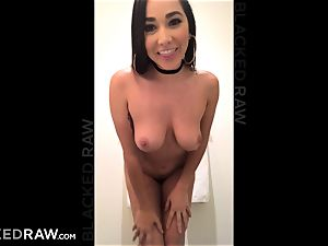 BLACKEDRAW Latina wife busts with 12 inch monster dark-hued trunk